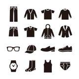 Icône de la mode des hommes Photo stock