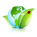 Icône de la terre verte Photo stock