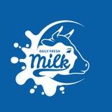 Icône de lait, éclaboussure, Logo Template illustration stock