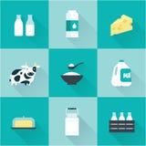 Icône de lait de vecteur Photographie stock