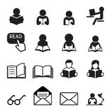 Icône de lecture Image stock
