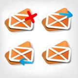 Icône de lettre de Web Images libres de droits
