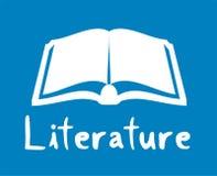 icône de littérature Photos stock
