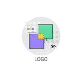 Icône de Logo Application Design Graphic Development Image stock