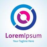 Icône de logo d'application de noyau de technologie de Cyber future illustration libre de droits
