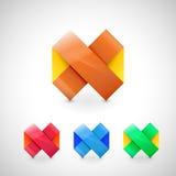 Icône de logo d'infini d'origami de vecteur Illustration Libre de Droits
