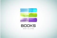 Icône de logo de calibre de livre De nouveau à l'école Éducation Photos stock