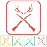 Icône de logo de club de chasse Images libres de droits