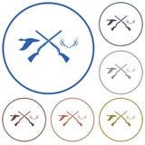 Icône de logo de club de chasse Photo libre de droits