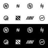 Icône de logo de la lettre N Images libres de droits