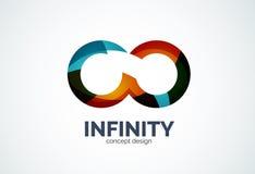 Icône de logo de société d'infini illustration stock