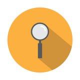 Icône de loupe Photos stock