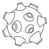 Icône de lune, style d'ensemble illustration stock