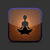 Icône de méditation Photo libre de droits