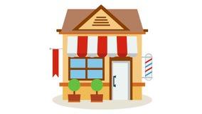 Icône de magasin de boutique avec rouge et le blanc barrée illustration libre de droits