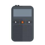 Icône de magnétophone ou de dictaphone d'isolement sur le matériel son audio de vecteur d'illustration de voix blanche de microph Image stock