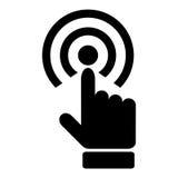 Icône de main de contact illustration stock