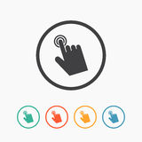Icône de main de curseur Signe de clic Image libre de droits