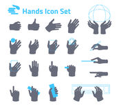 Icône de mains réglée pour le site Web ou l'application Conception plate Photo stock