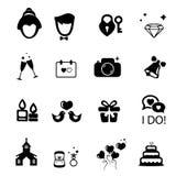 Icône de mariage Photo stock
