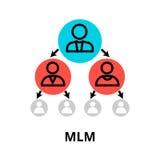 Icône de marketing à plusieurs niveaux, pour le graphique et le web design Image stock