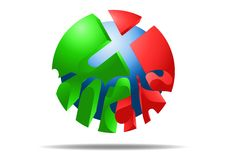 Icône de X'mas de Noël illustration de vecteur