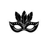 Icône de masque de carnaval Images libres de droits