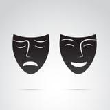 Icône de masque sur le fond blanc Images libres de droits