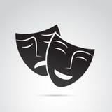 Icône de masque sur le fond blanc Photo stock