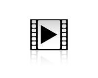Icône de media player Photo stock