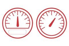 Icône de mesure, fond blanc illustration stock