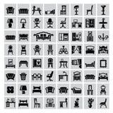 Icône de meubles Photo stock
