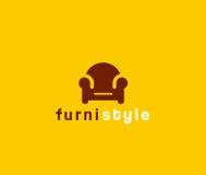Icône de meubles Photos stock