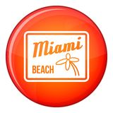 Icône de Miami Beach, style plat Photo stock