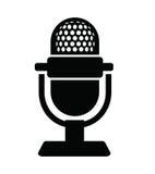 Icône de microphone Photo stock
