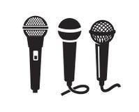 Icône de microphone de vecteur