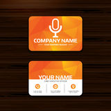 Icône de microphone Symbole de haut-parleur Live Music Sign Images libres de droits
