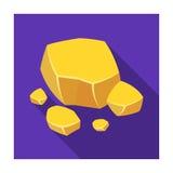 Icône de minerai de cuivre dans le style plat d'isolement sur le fond blanc Minerais précieux et vecteur d'actions de symbole de  Photographie stock