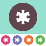 Icône de morceau de puzzle Photographie stock libre de droits