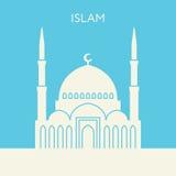 Icône de mosquée Bâtiment de l'Islam Photographie stock libre de droits