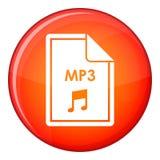 Icône de MP3 de dossier, style plat illustration stock