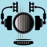 Icône de musique de guitare Photos libres de droits