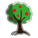Icône de nature d'usine d'arbre Image stock