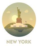 Icône de New York de destination de voyage Images libres de droits