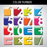 Icône de nombre avec beaucoup de couleurs Photo libre de droits