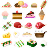 Icône de nourriture Photos libres de droits