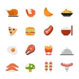 Icône de nourriture. Conception plate de pleines couleurs. Photographie stock libre de droits