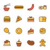 Icône de nourriture et de dessert Images libres de droits