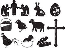 Icône de Pâques Photos stock