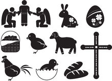 Icône de Pâques illustration stock